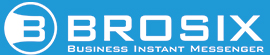 Brosix Mono color logo for dark background with tagline