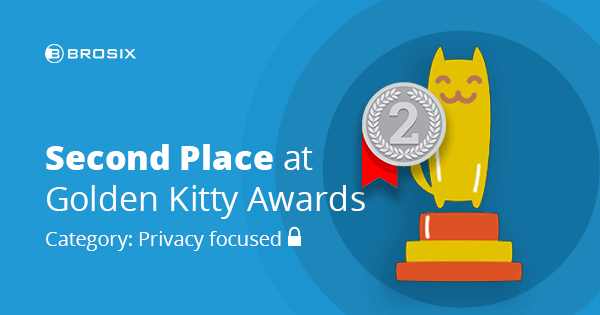 Brosix Comes in 2nd Place in Product Hunt's 5th Annual Golden Kitty Awards