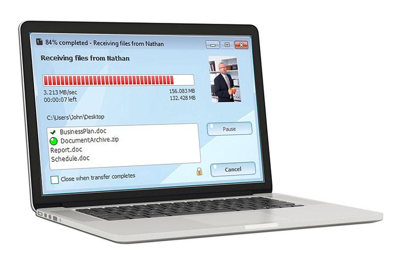 File transfer window