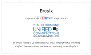 Most Promising Unified Communications - Solution Provider - Brosix